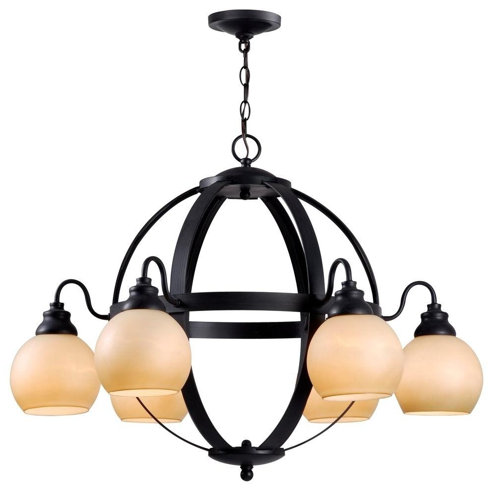 Globe – Chandeliers – Lighting – The Home Depot For 2018 Globe Chandeliers (View 20 of 20)