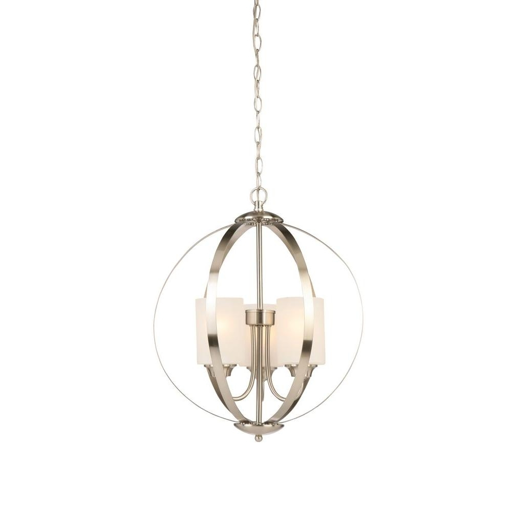 Globe Chandeliers With Current Globe – Chandeliers – Lighting – The Home Depot (Gallery 4 of 20)