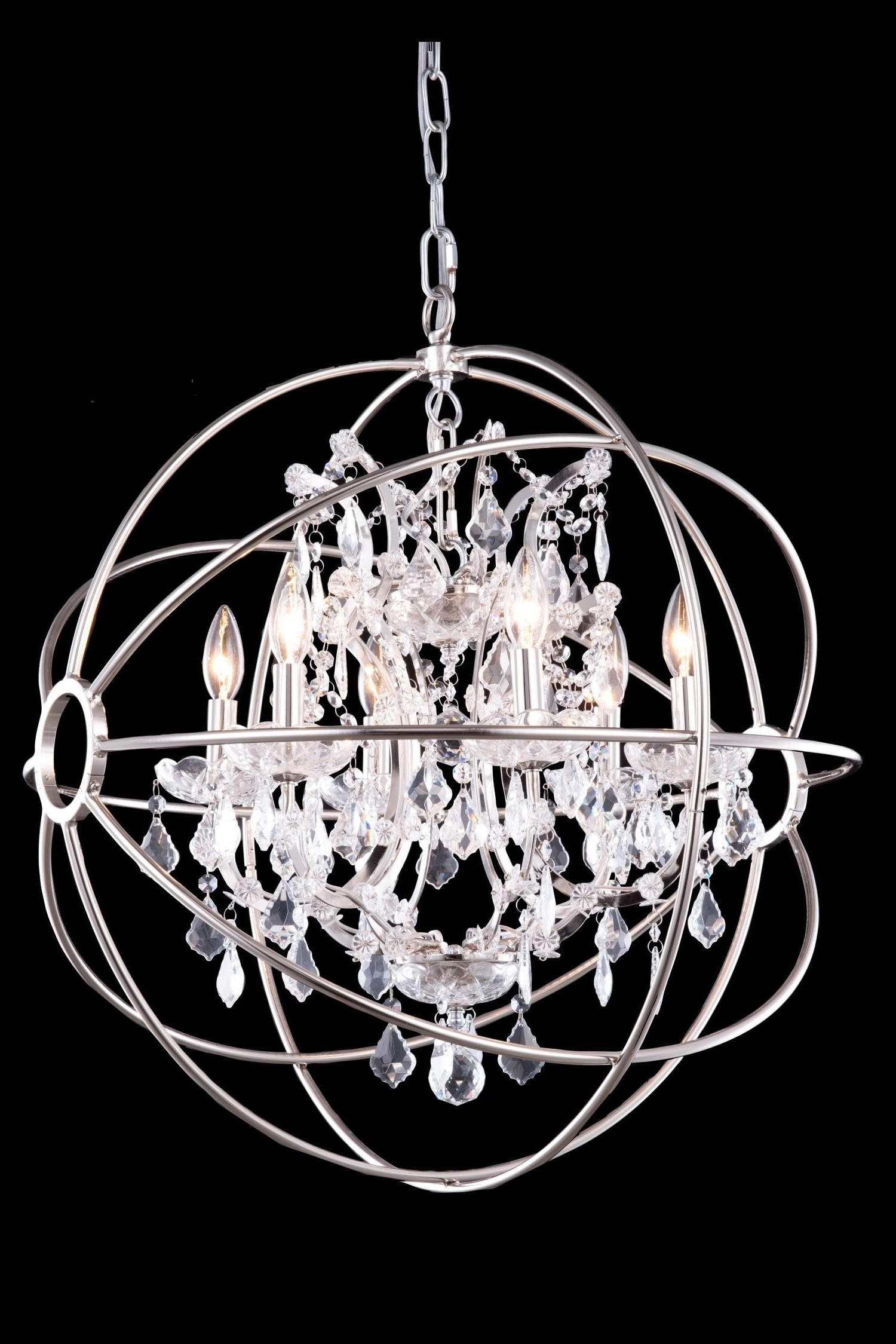 Globe Crystal Chandelier Regarding Current Chandeliers : Magnificent Large Crystal Chandeliers Elegant 12 Best (View 13 of 20)