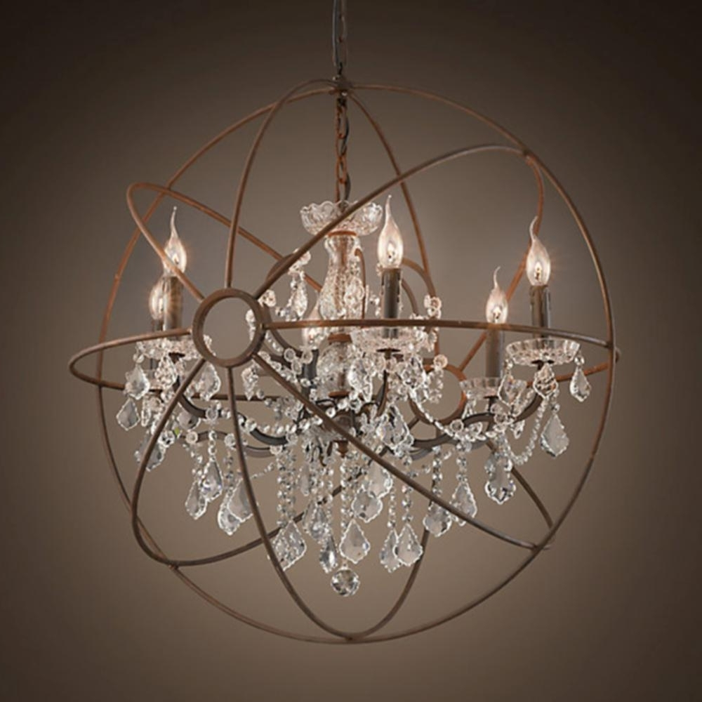 Globe Light Chandelier – House Designs Photos Inside Well Known Crystal Globe Chandelier (View 12 of 20)