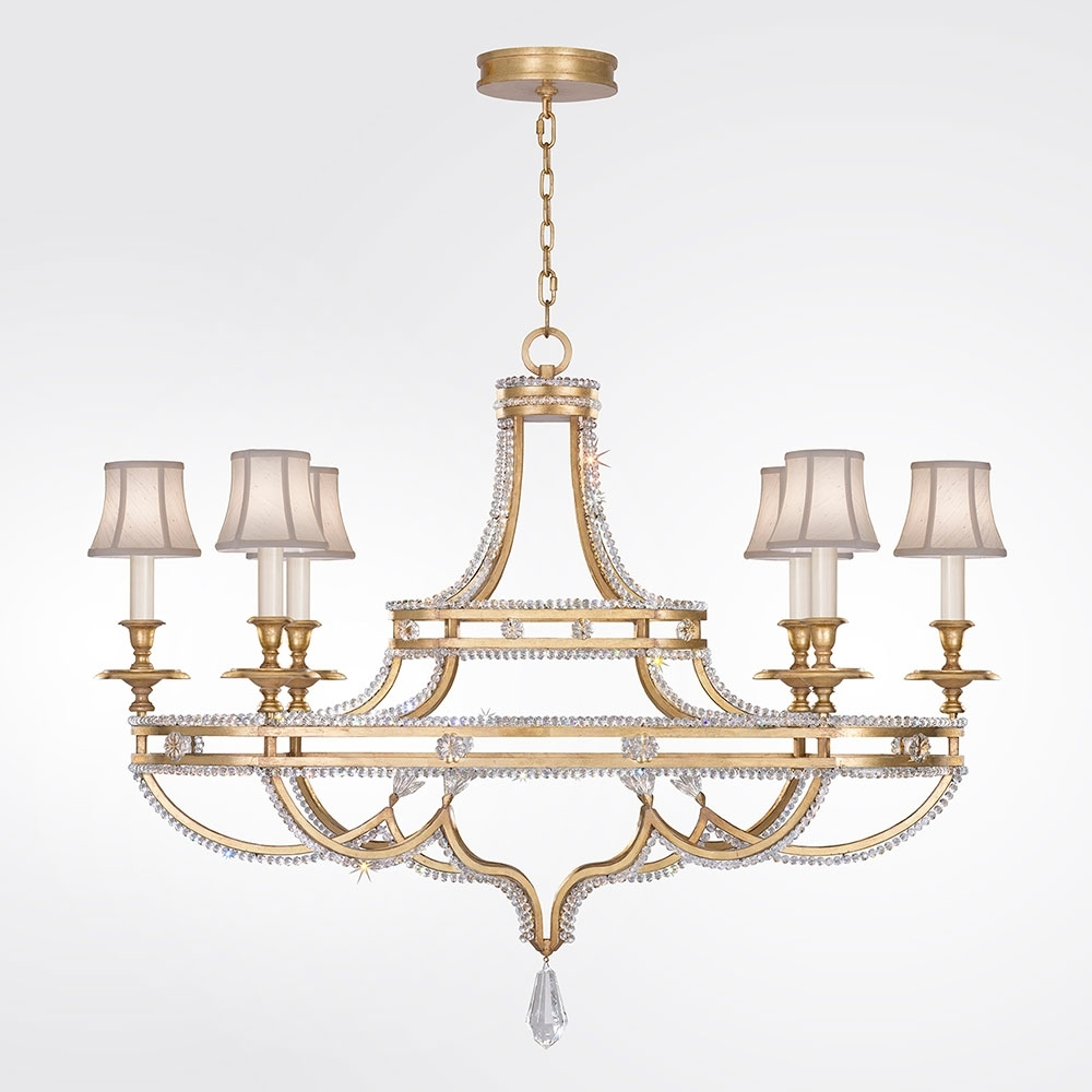 Gold Leaf Chandelier Intended For Latest Fine Art Lamps 857840 21St Prussian Neoclassic Brandenburg Gold Leaf (Gallery 3 of 20)