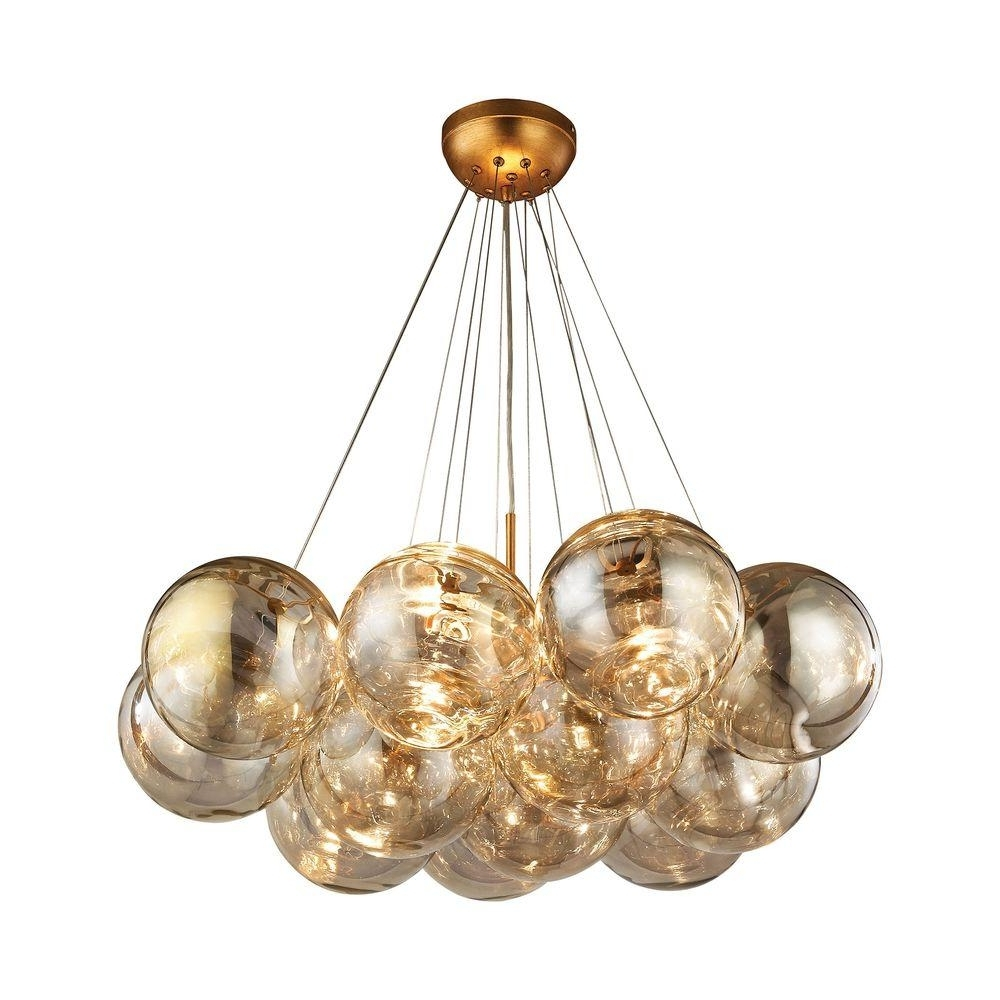 Gold Leaf Chandelier Pertaining To Trendy Titan Lighting Cielo 3 Light Antique Gold Leaf Chandelier Tn  (View 10 of 20)