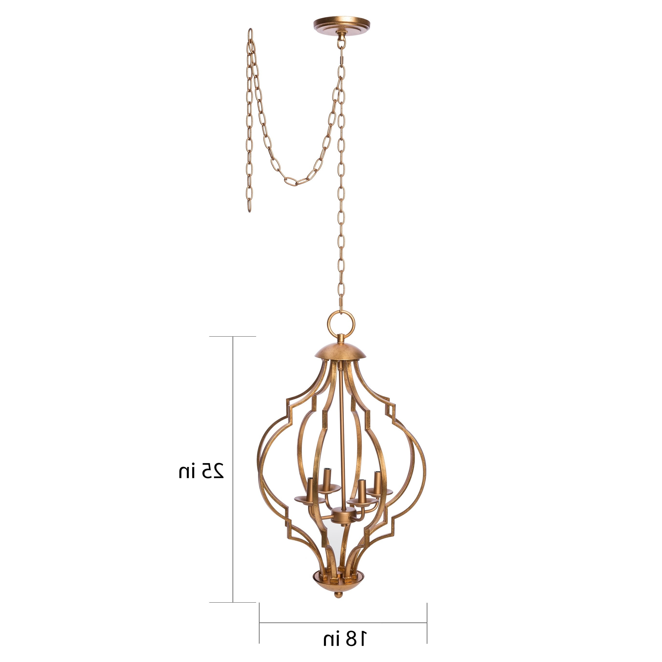 Gold Leaf Trellis 4 Light Chandelier – Free Shipping Today Inside Fashionable Gold Leaf Chandelier (Gallery 6 of 20)