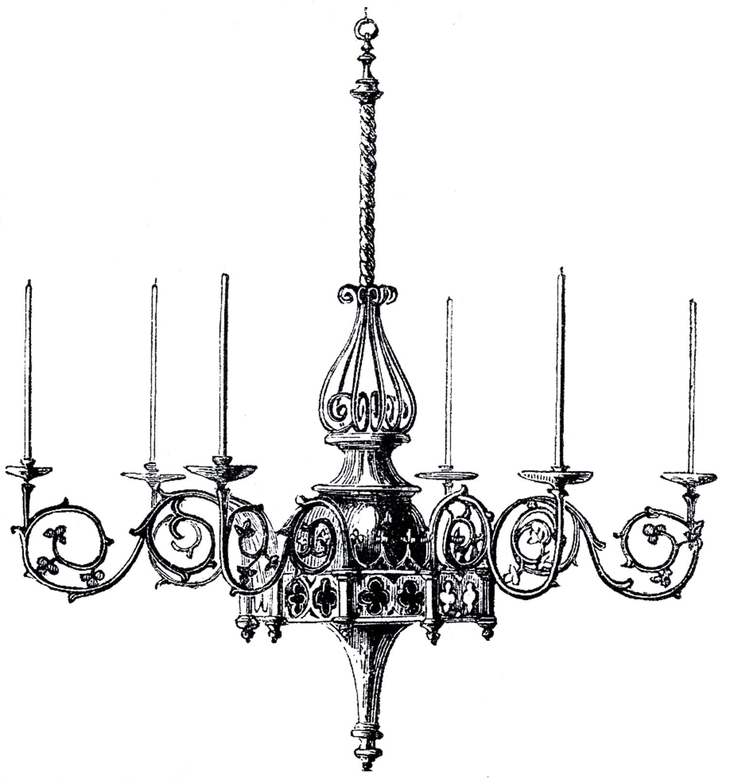Gothic Chandelier, Clip Art And (View 2 of 20)