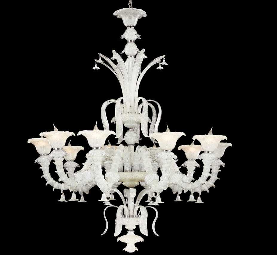 Grand Light With Large Glass Chandelier (Gallery 17 of 20)