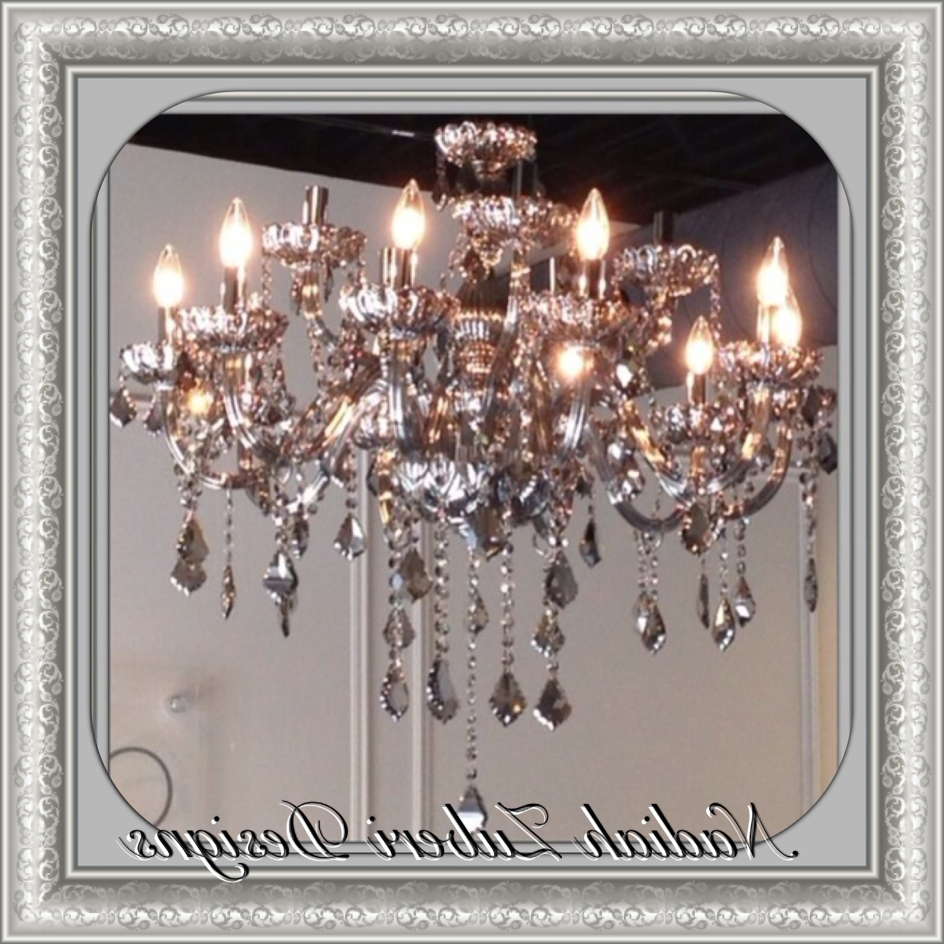 Grey Crystal Chandelier For Most Up To Date Smoked Grey Crystal Chandelier – Nadiah Zuberi Designs – Montreal (View 13 of 20)