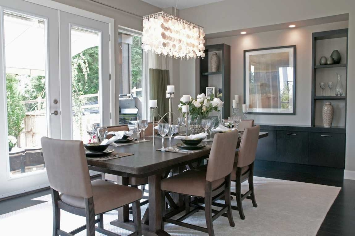 Grey Crystal Chandelier For Trendy Modern Decorating Grey Dining Room Idea Crystal Chandelier : Home (View 8 of 20)