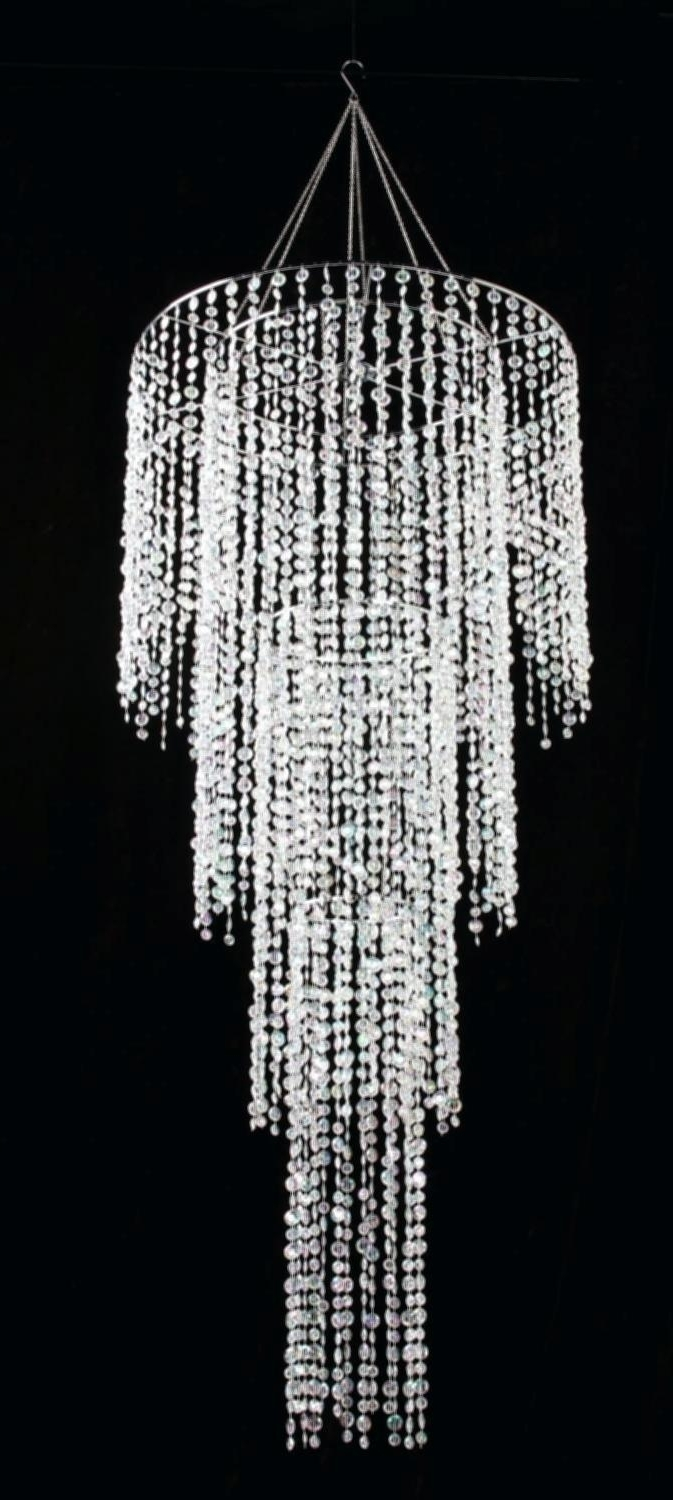 Grey Crystal Chandelier Throughout Popular 24 Light Chandelier Grey Crystal Chandelier 24 Large Raindrop  (View 11 of 20)