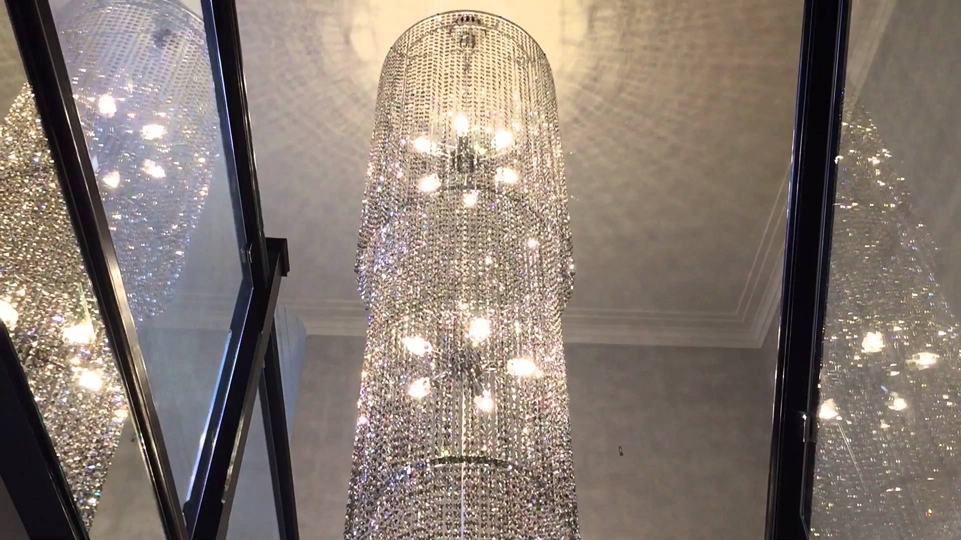Grey Crystal Chandelier Within Popular Smoked Grey Crystal Chandelier Custom Bespoke Design Lighting (Gallery 4 of 20)