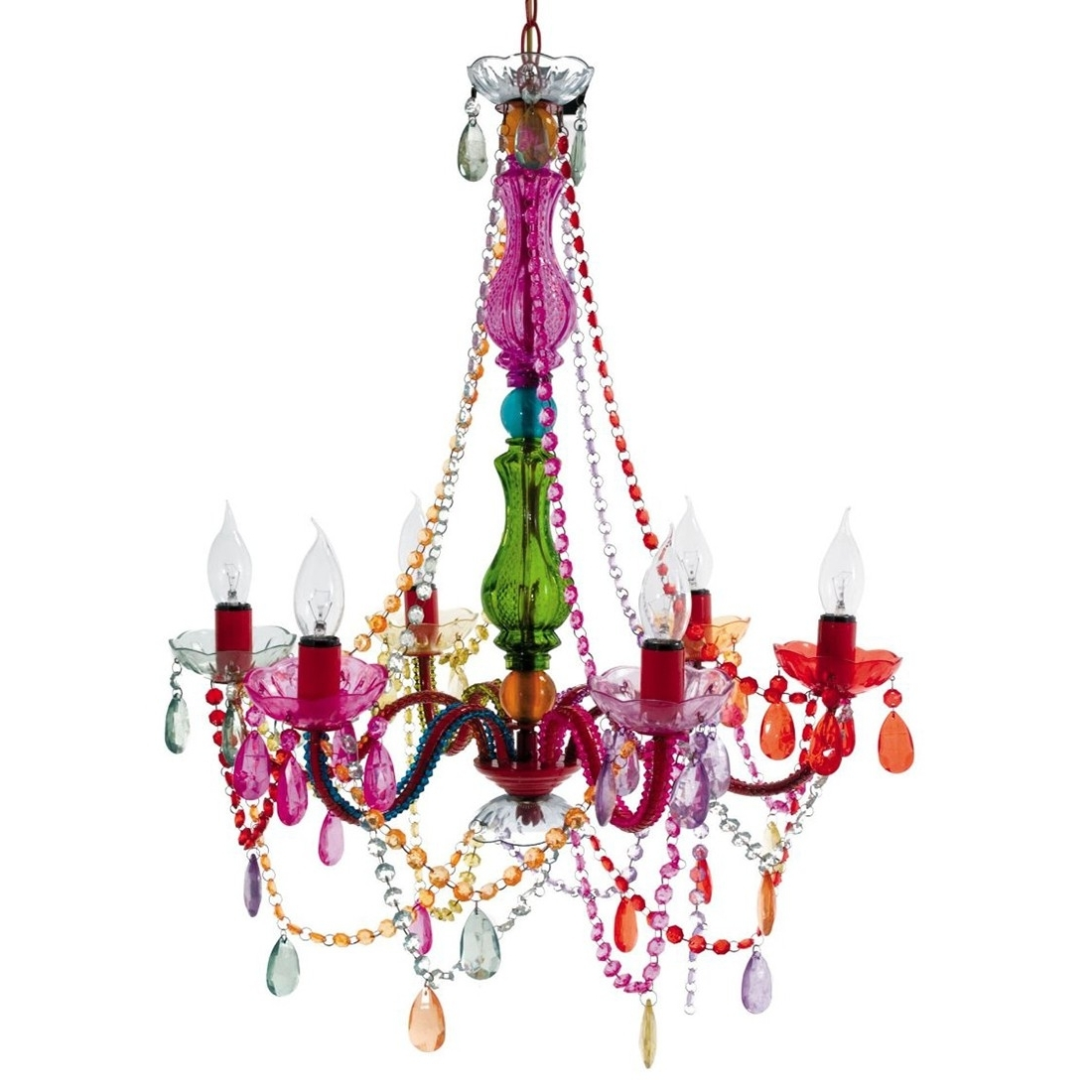 Featured Photo of Multi Colored Gypsy Chandeliers