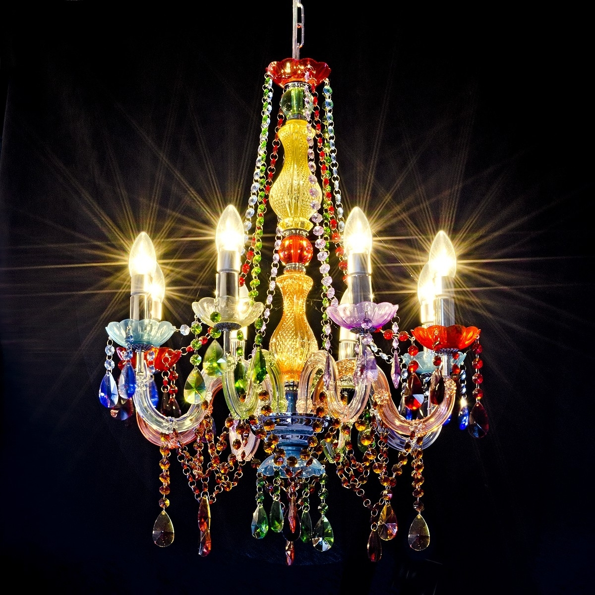 Gypsy Chandelier – Lh79 – Be Fabulous! Inside Famous Coloured Chandeliers (Gallery 10 of 20)