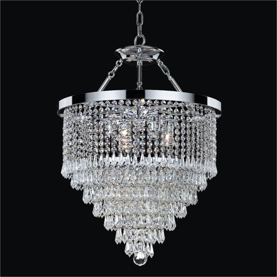 Hanging Crystal Chandelier (View 13 of 20)