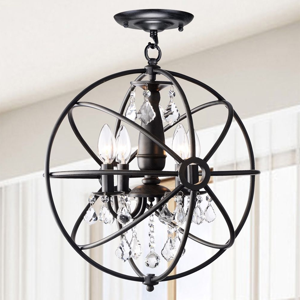 Hanging Crystals, Chandeliers And Iron With 2018 Orb Chandeliers (View 19 of 20)
