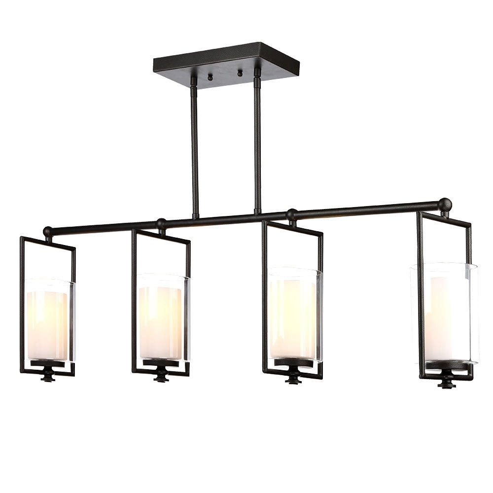 Hanging Vertical Modern Wrought Iron Chandeliers With Black Color For 2019 Chandeliers With Black Shades (View 12 of 20)