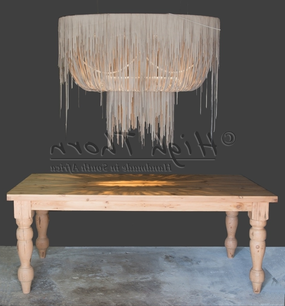 High Thorn – Handmade In South Africa – Lighting, Furniture, Home For Well Known Leather Chandeliers (View 9 of 20)
