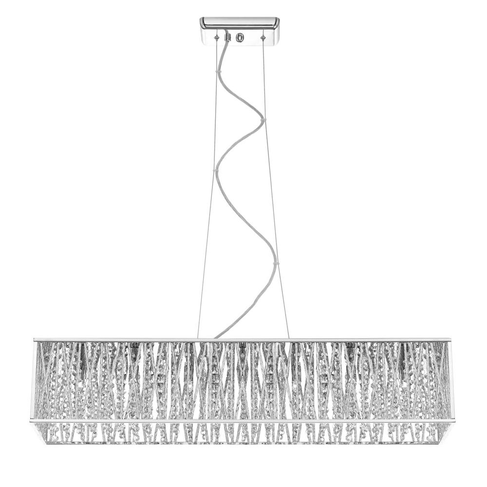 Home Decorators Collection 7 Light Chrome Pendant With Woven Laser With Newest 7 Light Chandeliers (View 10 of 20)