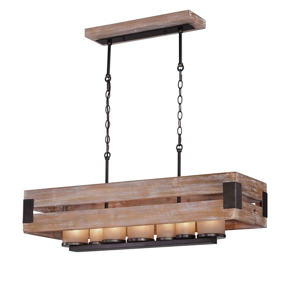Home Decorators Collection Ackwood Collection 7 Light Dark Wood Intended For Recent 7 Light Chandeliers (View 3 of 20)