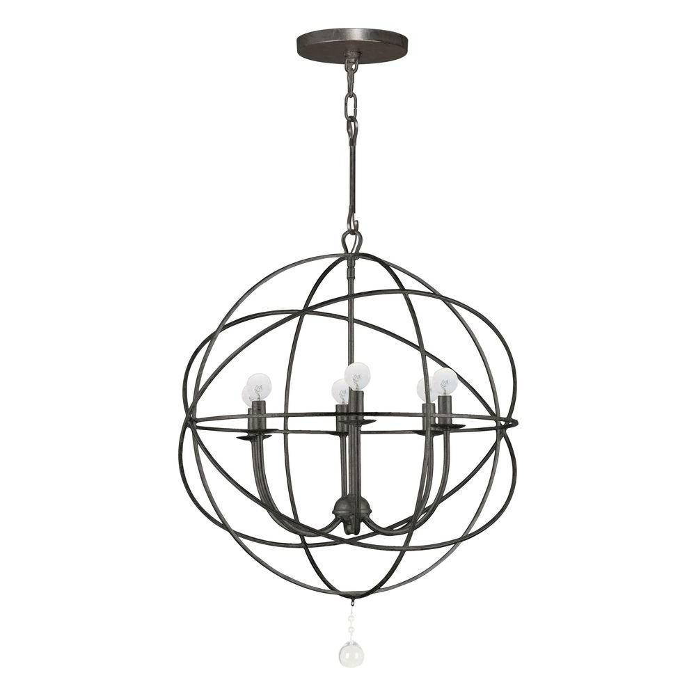 Home Decorators Collection Solaris Collection 6 Light English Bronze With Regard To Latest Orb Chandelier (View 12 of 20)