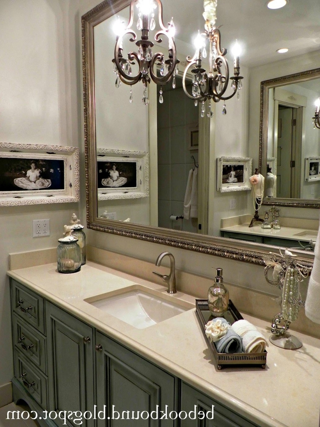 Home Design & Decorating Ideas Within Newest Chandelier Bathroom Vanity Lighting (View 17 of 20)