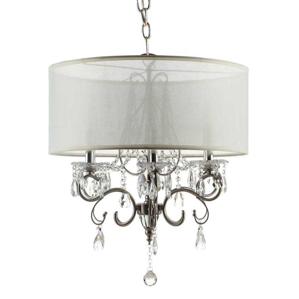 Homesullivan 6 Light Chrome Crystal Large Chandelier 40Ok 5109H With Regard To Most Up To Date Large Chandeliers (View 9 of 20)