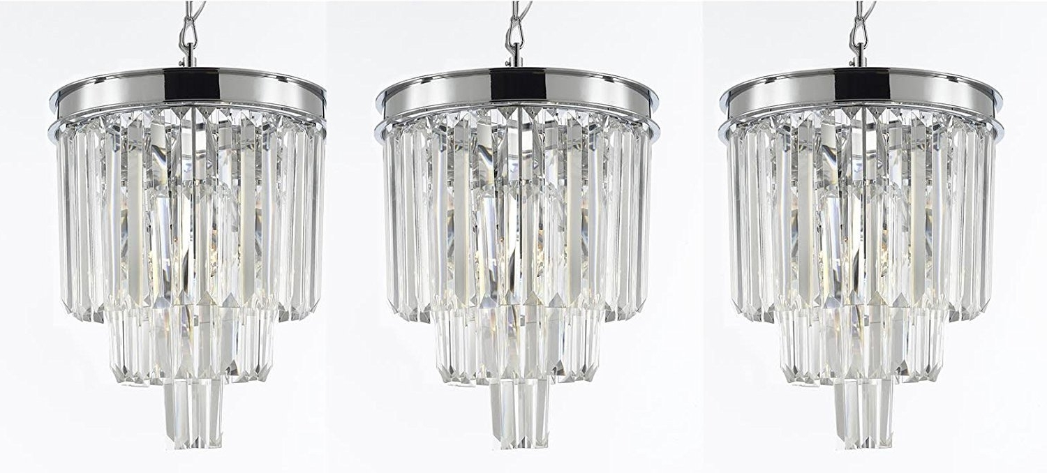 House Of Hampton Keever Empress 3 Light Crystal Chandelier & Reviews Within Widely Used 3 Light Crystal Chandeliers (View 13 of 20)