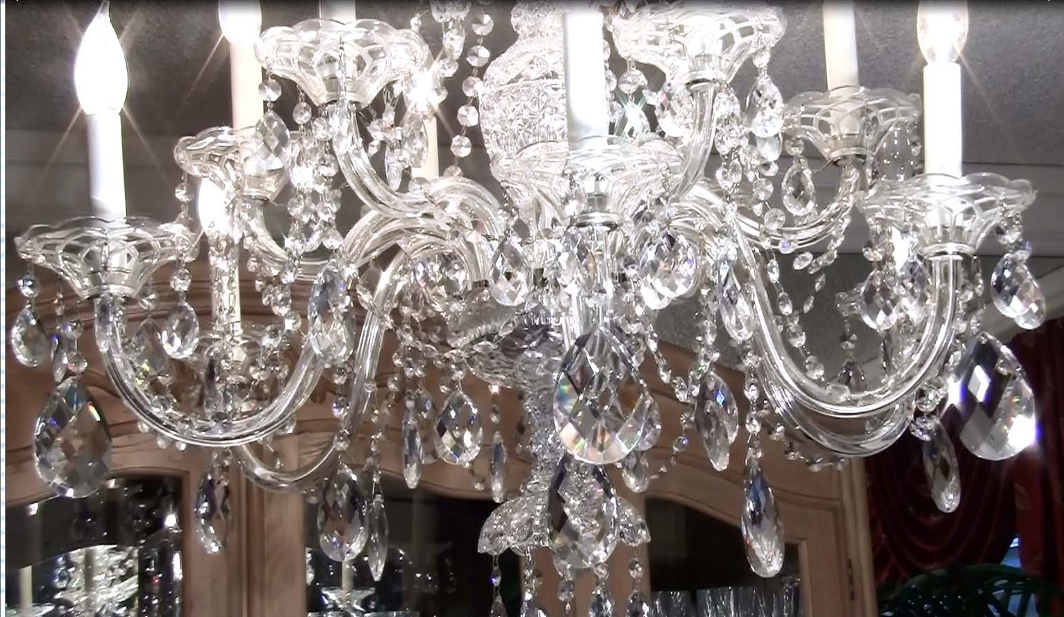 How To Clean A Crystal Chandelier – Youtube Throughout Newest Expensive Crystal Chandeliers (View 4 of 20)