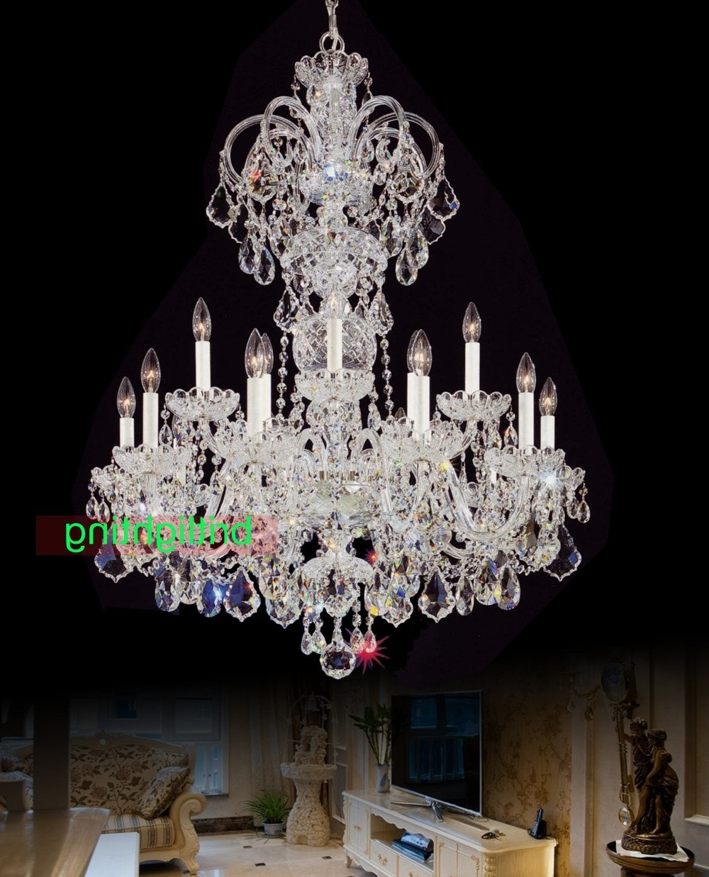 Huge Crystal Chandelier Regarding Well Known Cheap Crystal Chandeliers Awesome 12 Best Collection Of Huge Crystal (View 13 of 20)