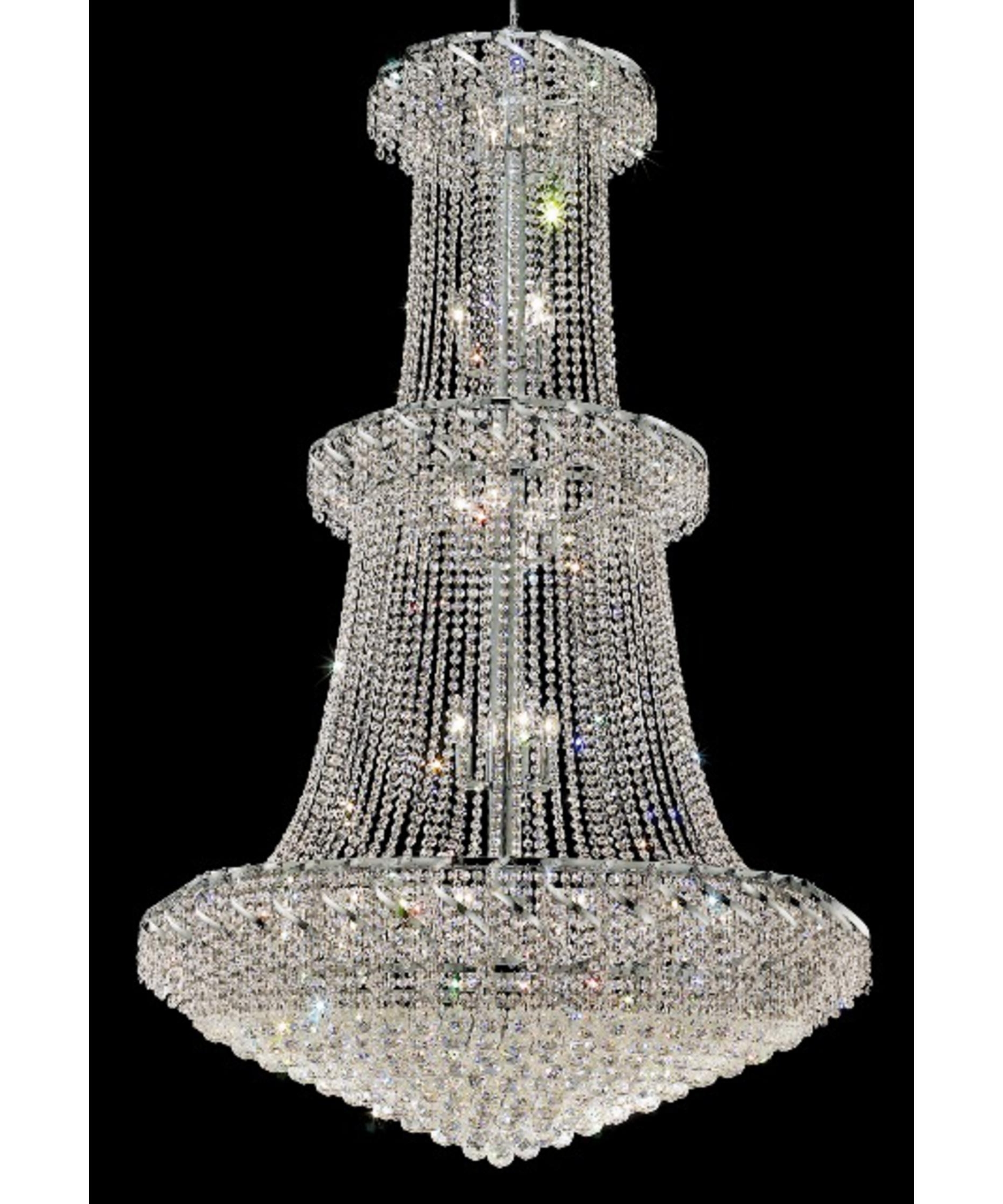 Huge Crystal Chandeliers In Famous Elegant Lighting Eca1g42 Belenus 42 Inch Wide 32 Light Large Pendant (View 20 of 20)