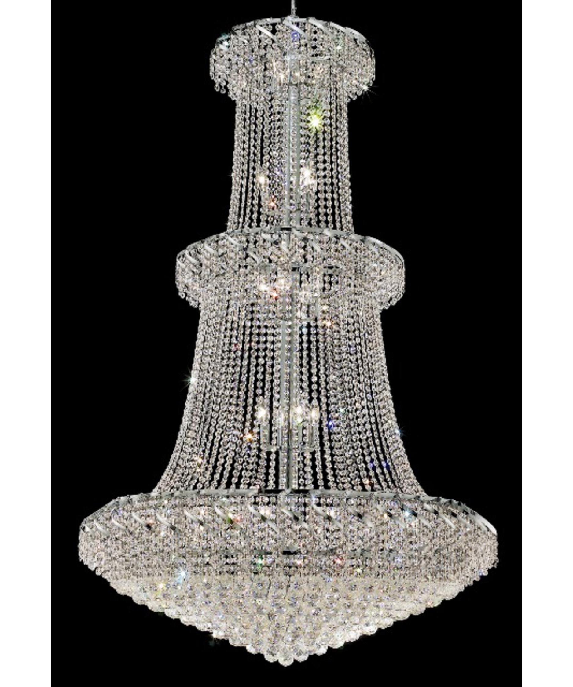 Huge Crystal Chandeliers In Famous Elegant Lighting Eca1G42 Belenus 42 Inch Wide 32 Light Large Pendant (View 8 of 20)
