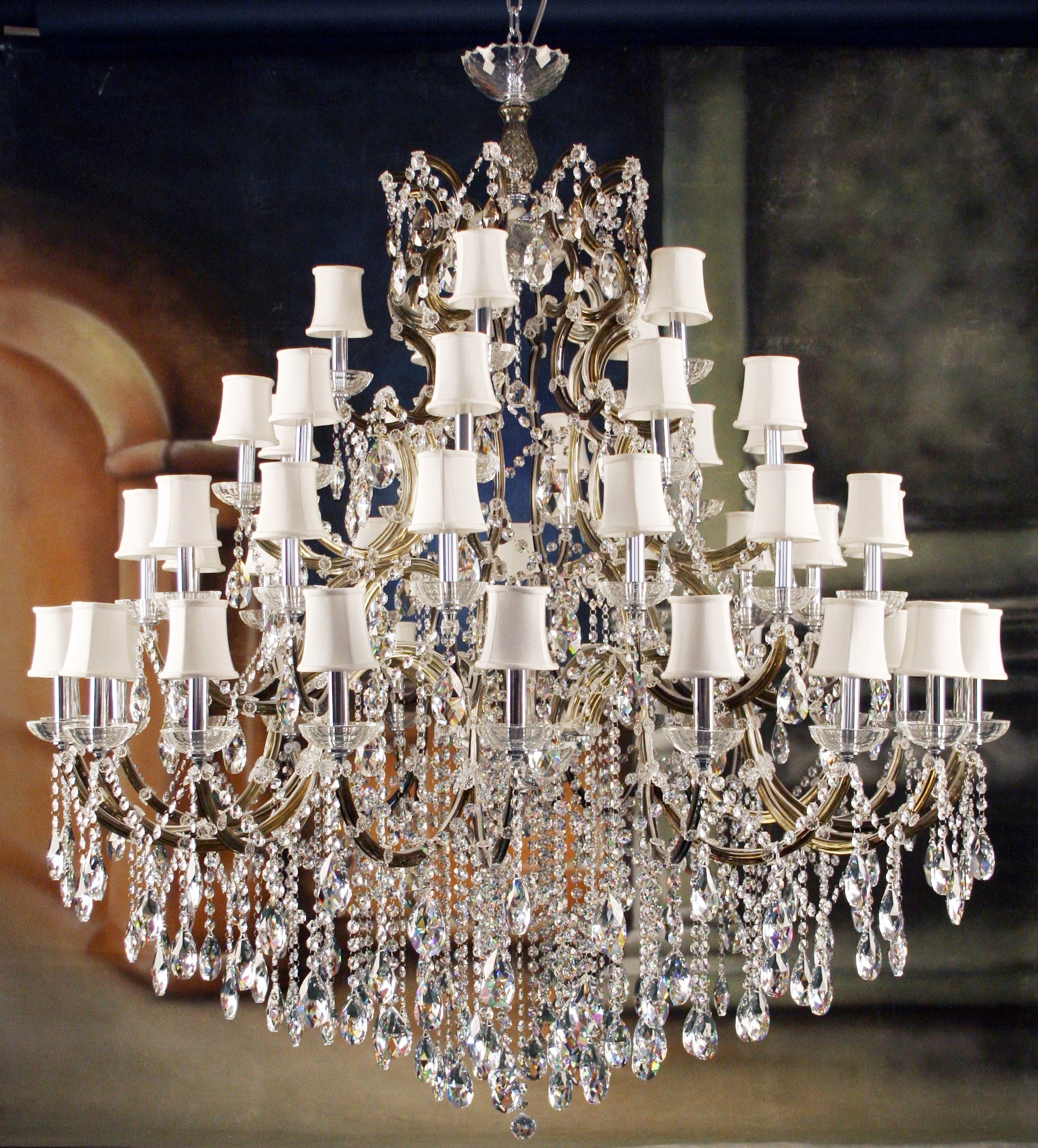 Huge Crystal Chandeliers Regarding Most Popular Great Impressive Unique Crystal Chandeliers Designer Lighting Unique (View 16 of 20)