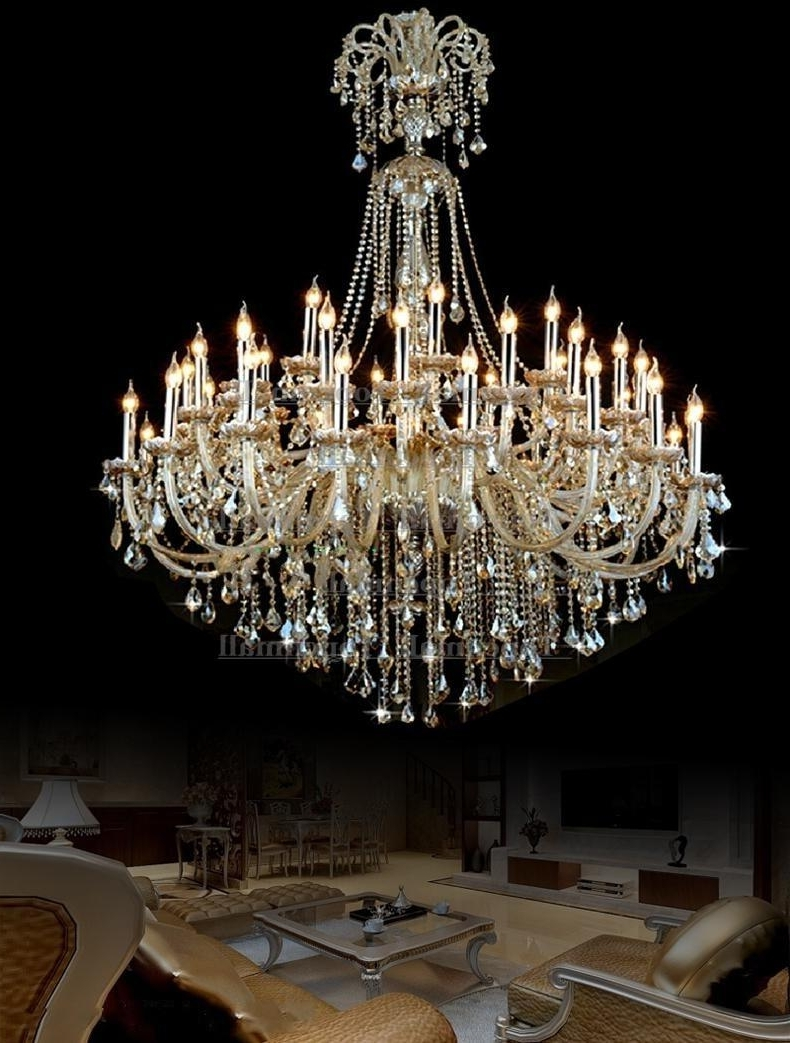 Huge Crystal Chandeliers Regarding Recent Vintage Extra Large Crystal Chandelier Entryway Antique Huge French (View 2 of 20)