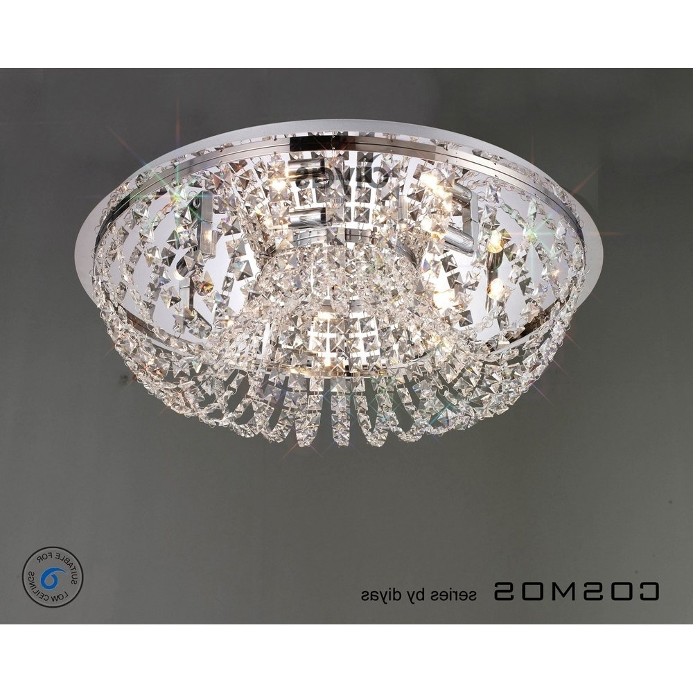 Images Of Crystal Flush Ceiling Light – Home Decoration Ideas Throughout Fashionable Flush Chandelier Ceiling Lights (View 8 of 20)