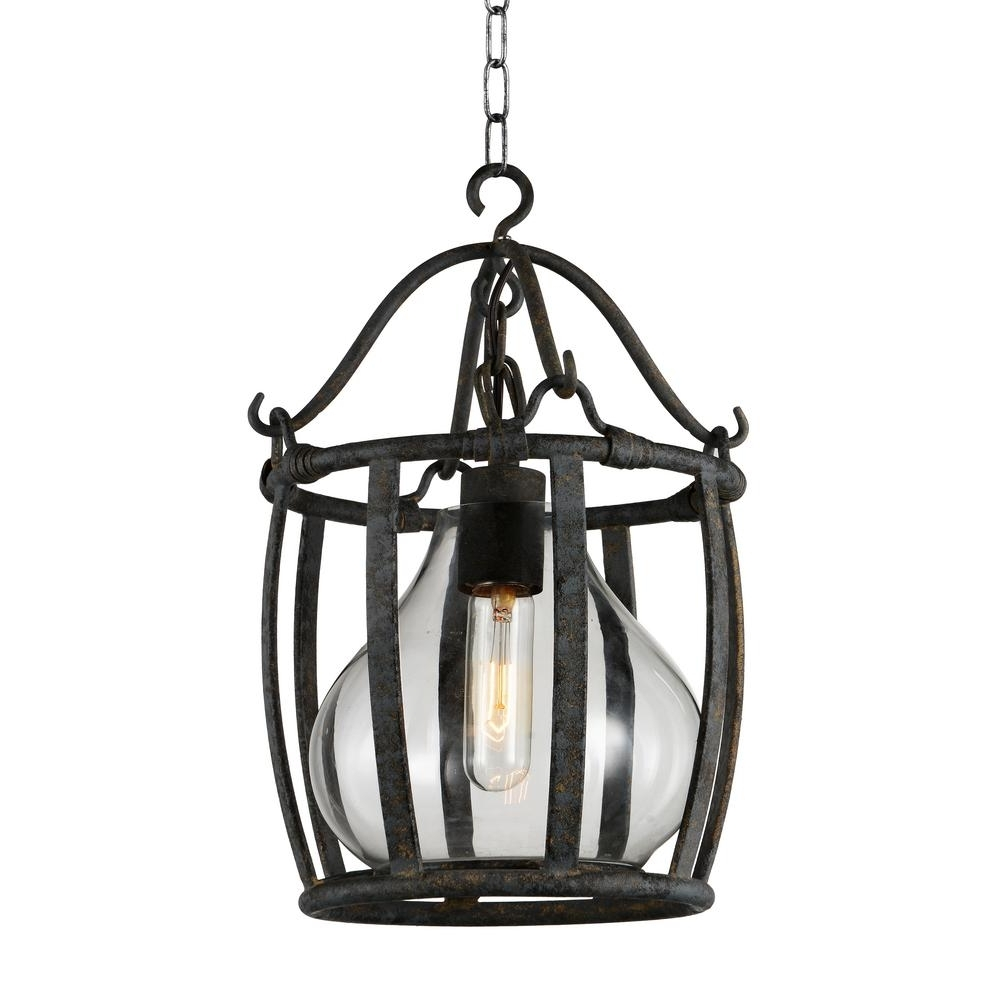 Imperial 1 Light Antique Black Chandelier 9925P16 1 216 – The Home Depot Intended For Popular Antique Black Chandelier (Gallery 5 of 20)