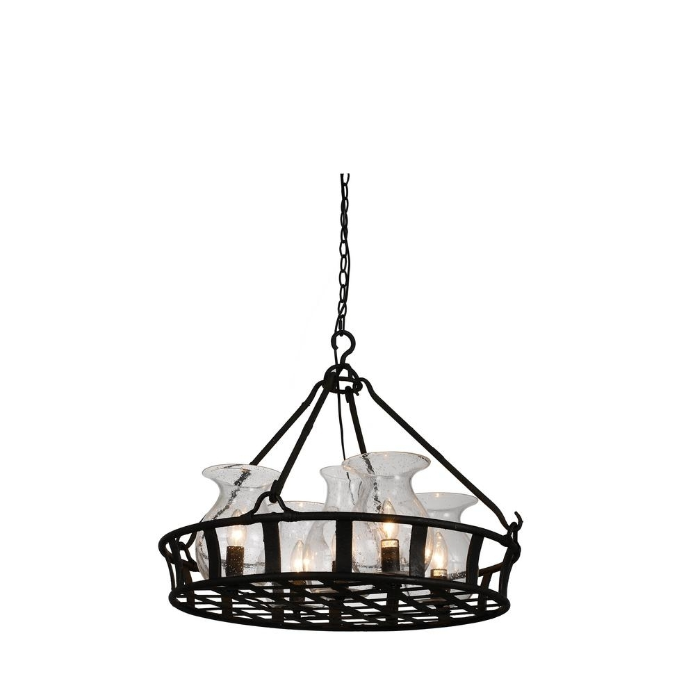 Imperial 5 Light Antique Black Chandelier 9925P26 5 216 – The Home Depot Intended For Popular Antique Black Chandelier (View 14 of 20)