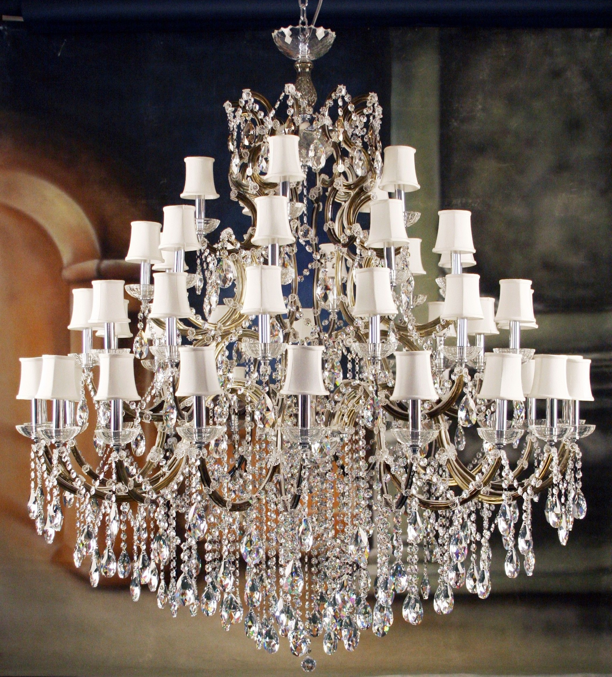 Impressive Unique Crystal Chandeliers Designer Lighting Unique Inside Popular Crystal Chandeliers With Shades (View 11 of 20)
