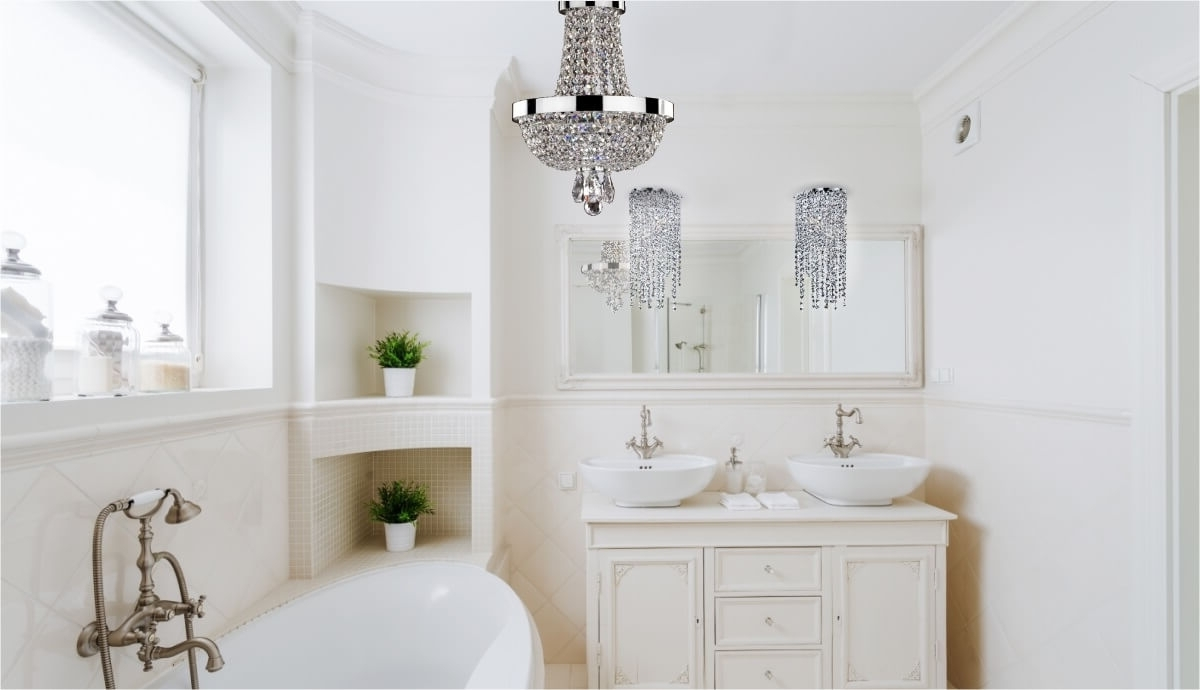 In Mini Bathroom Chandeliers (View 6 of 20)