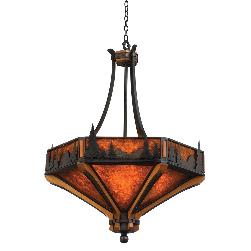 Inverted Pendant Chandeliers Regarding Well Known Light : Cozy Inverted Bowl Pendant Light Plus Rustic Chandeliers (View 13 of 20)