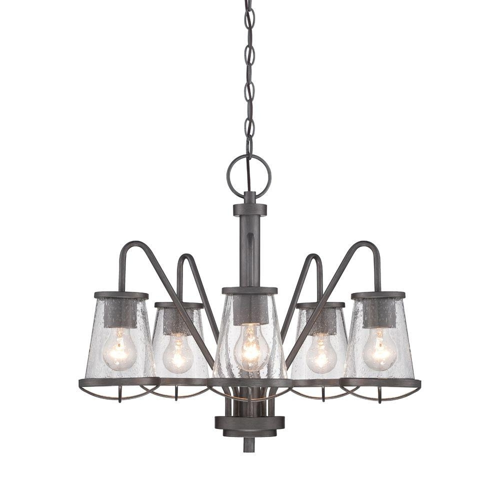 Iron Chandelier With Popular Designers Fountain Darby 5 Light Weathered Iron Chandelier 87085 Wi (View 9 of 20)