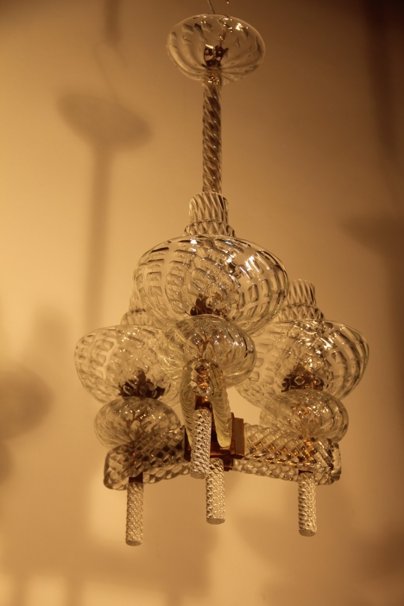 Italian Chandelier Style For Most Current Mid Century Italian Chandeliercarlo Scarpa For Venini, 1940 For (View 8 of 20)