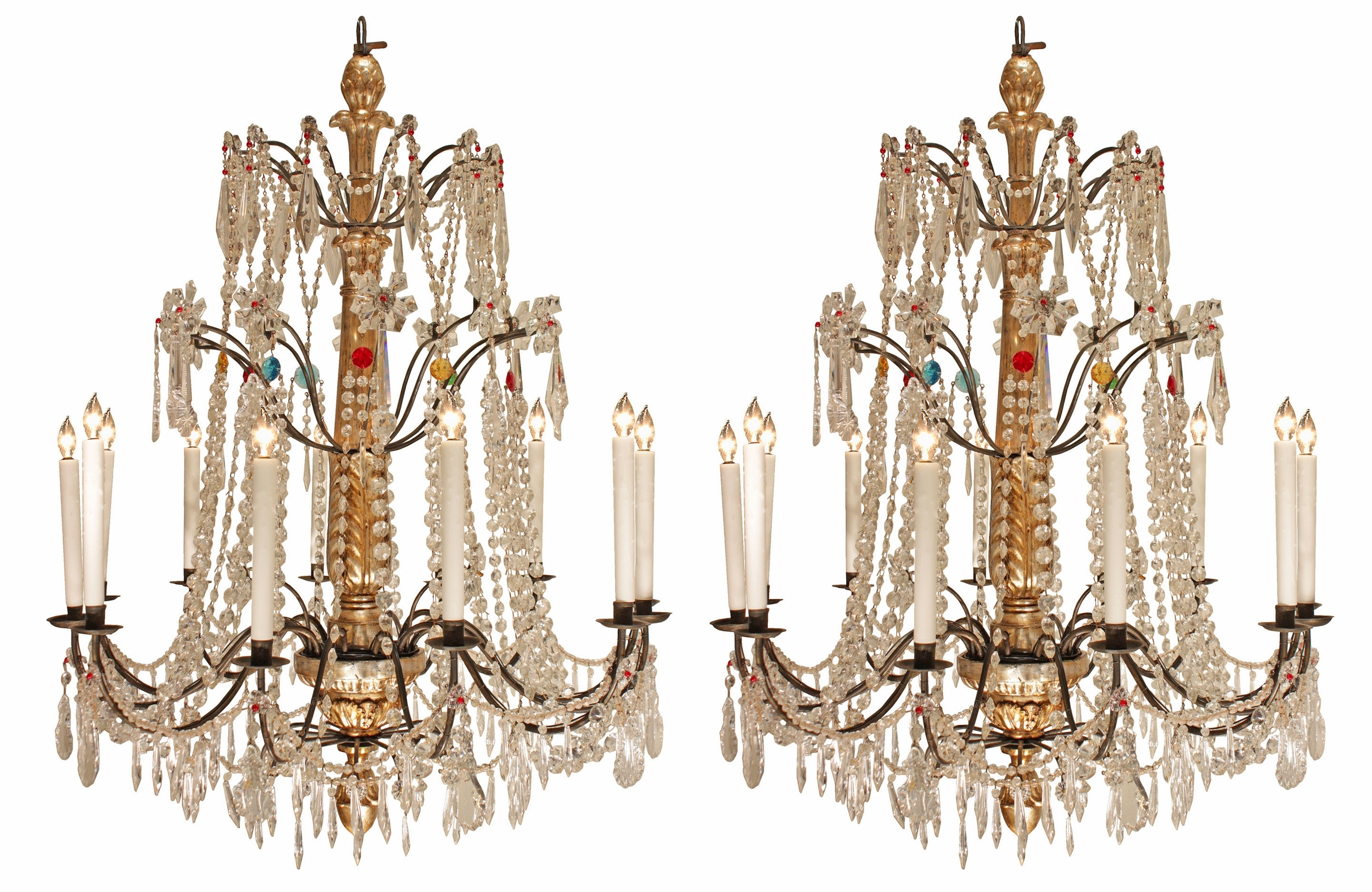 Italian Chandeliers Within Recent A Pair Of Early 19Th Century Italian Chandeliers (1800 To 1850 Italy (View 11 of 20)