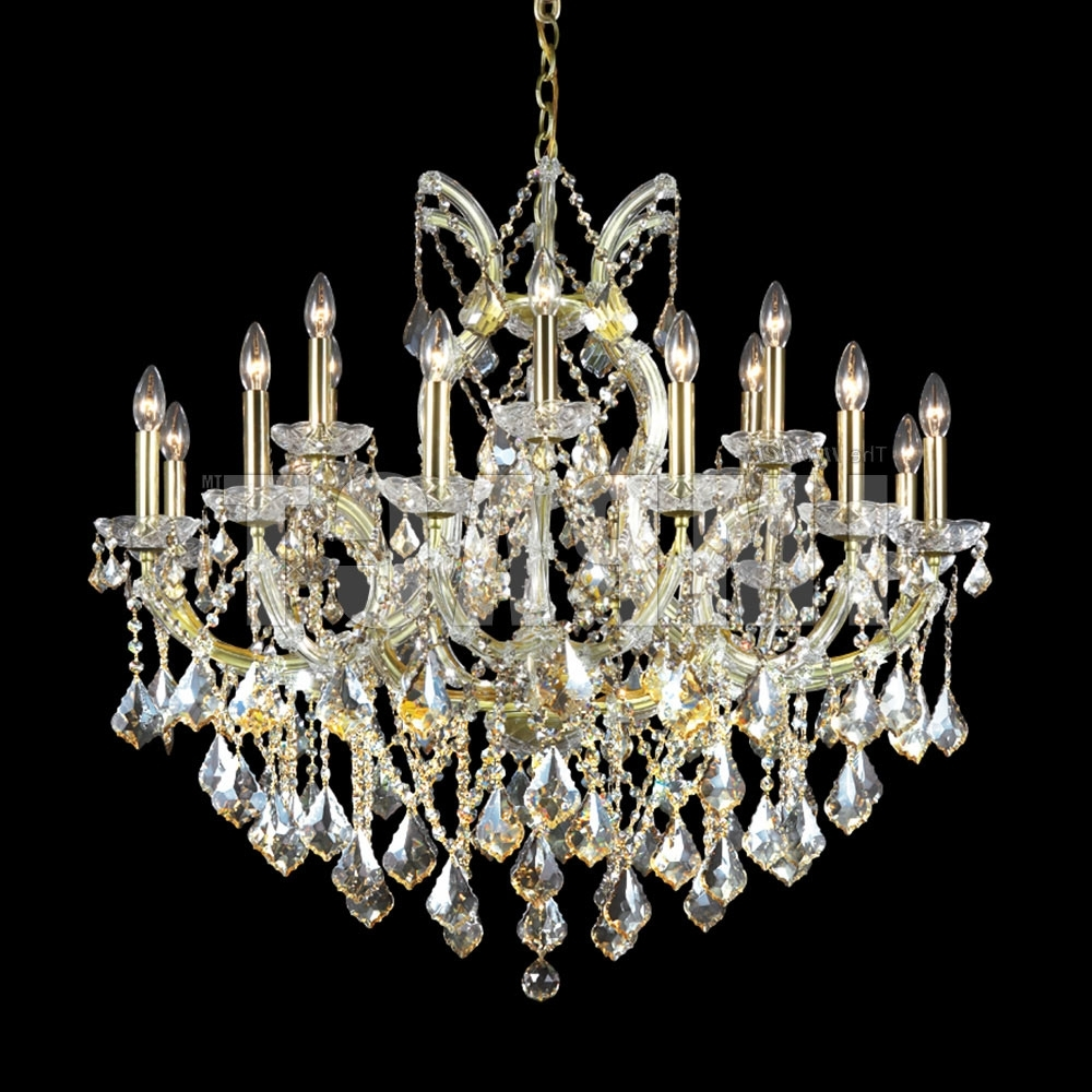 James Moder 40258Gl2Gt Maria Theresa Crystal Gold Lustre Chandelier Throughout Latest Crystal Gold Chandelier (View 14 of 20)