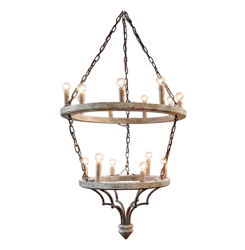 Joselyn Grand 15 Light French Country Cottage Rustic Chandelier For Fashionable French Country Chandeliers (Gallery 5 of 20)