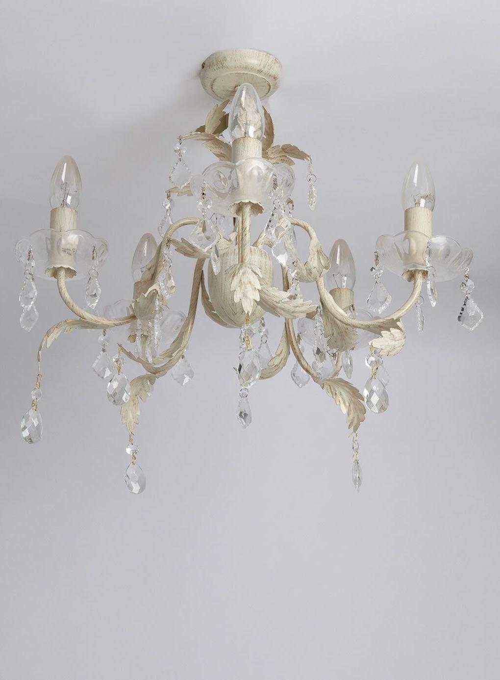 Juliette 5 Light Flush Fitting Chandelier – Ceiling Lights – Home With Famous Flush Fitting Chandelier (View 10 of 20)