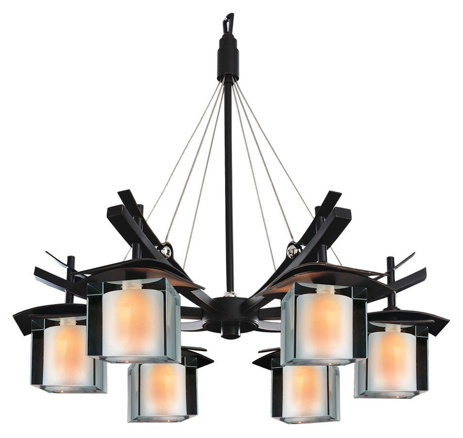 Kalco 2989 Nijo 26 Inch Diameter Tawny Port 6 Light Asian Chandelier For Best And Newest Asian Chandeliers (View 12 of 20)
