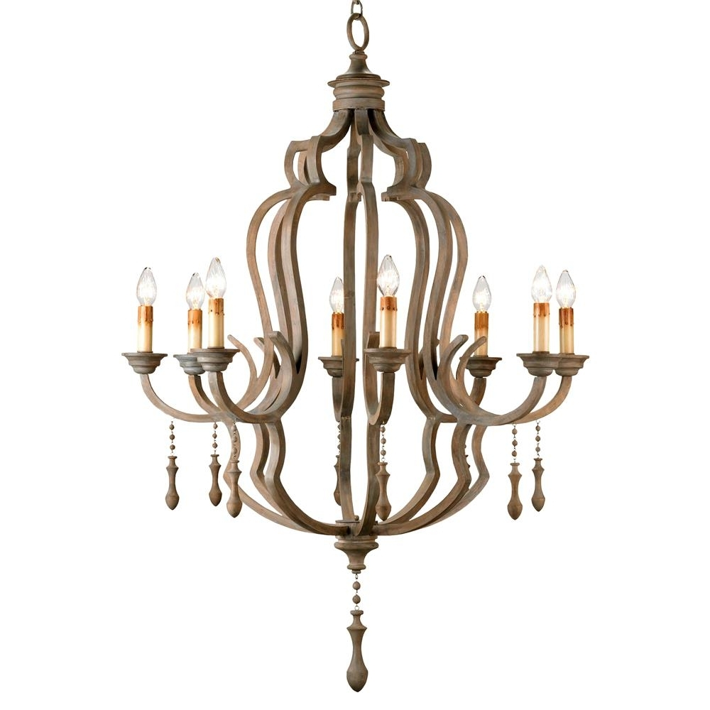 Featured Photo of French Wooden Chandelier