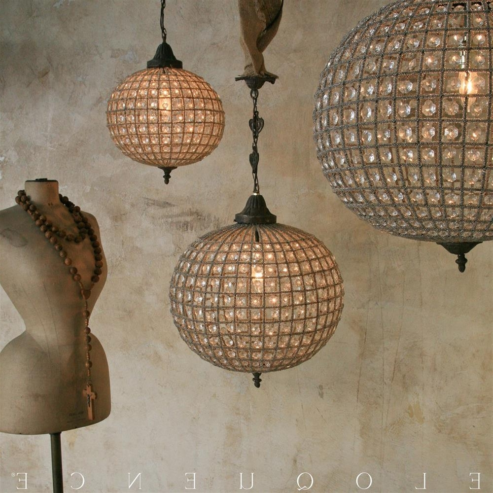 Kathy Kuo Home With Regard To Eloquence Globe Chandelier (View 14 of 20)