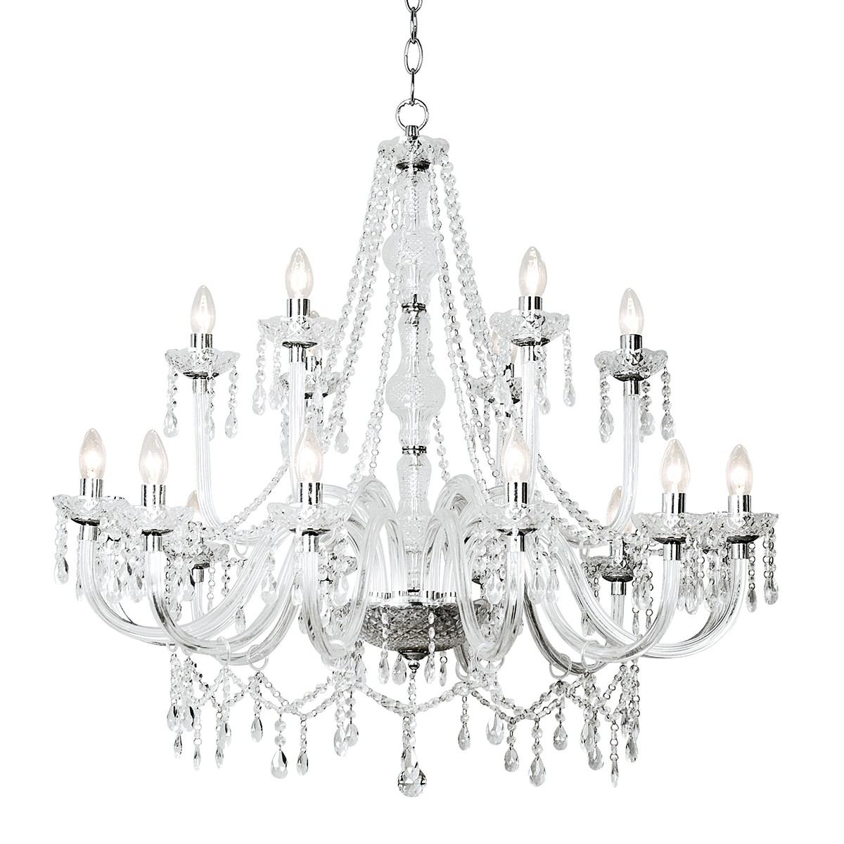 Katie 18 Light Chandelier Dual Mount Acrylic Glass Shade Sold Separately With Regard To 2018 Acrylic Chandelier Lighting (Gallery 11 of 20)