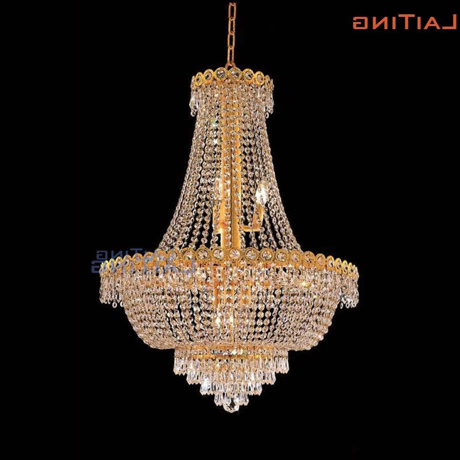 Laiting Dia 60Cm Classic Gold Vintage Retro Luxury Crystal For Latest Italian Chandeliers (View 12 of 20)