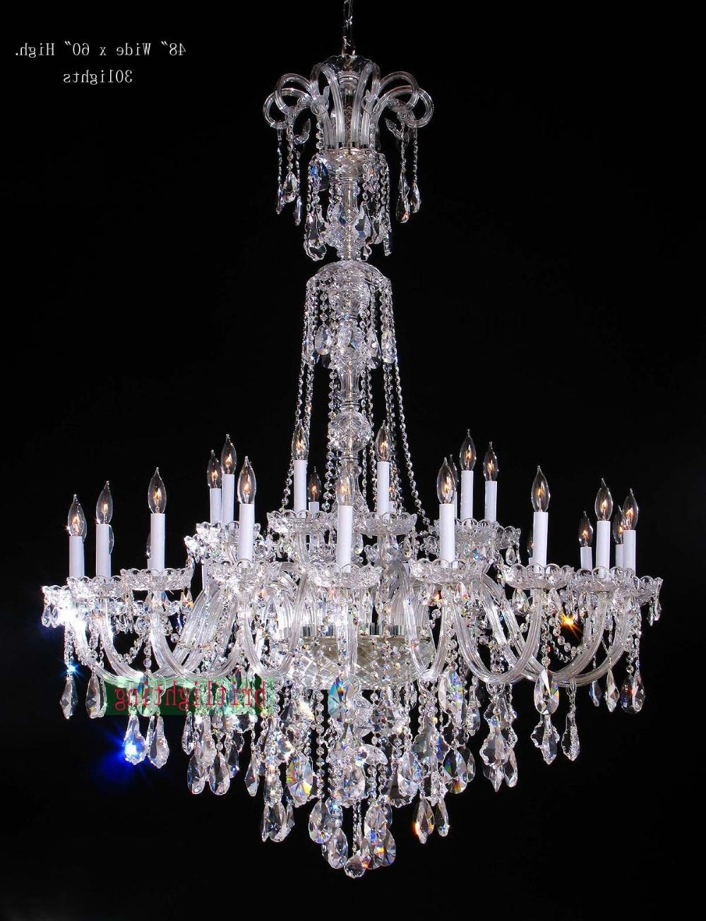 Lamp Modern Crystal Chandeliers 5 Star Hotel Chandelier Led Crystal Throughout Recent Crystal Chandeliers (View 5 of 20)