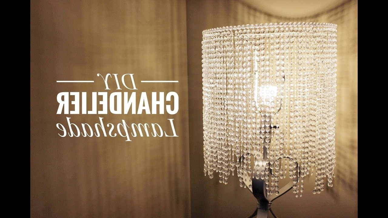 Lampshade Chandeliers Throughout Most Current An Easy Way For You To Make A Beautiful Chandelier Lampshade – Youtube (View 9 of 20)